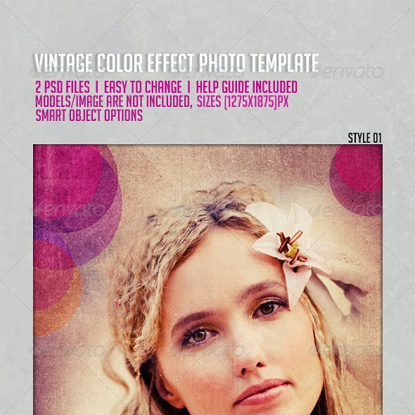 Vintage Color Effects Photo Template