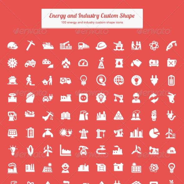 Energy and Industry Custom Shape