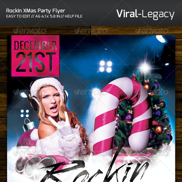Rockin XMas Party Flyer