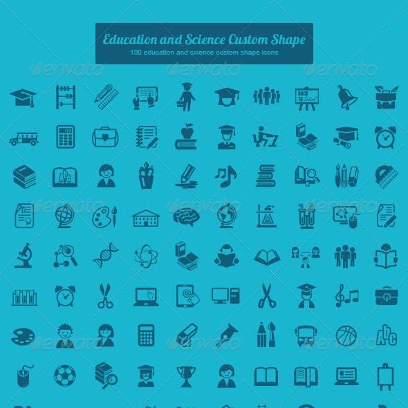 Education and Science Custom Shape