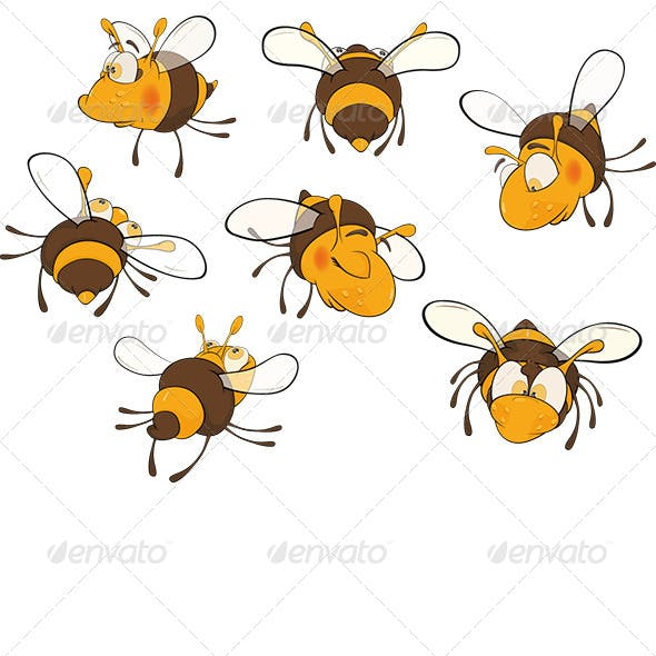 Bee Clip Art Cartoon
