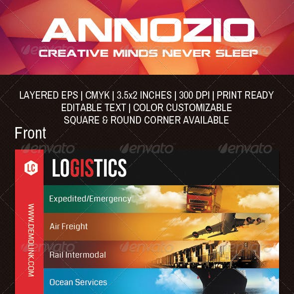 Logistics Company Business Card AN0042