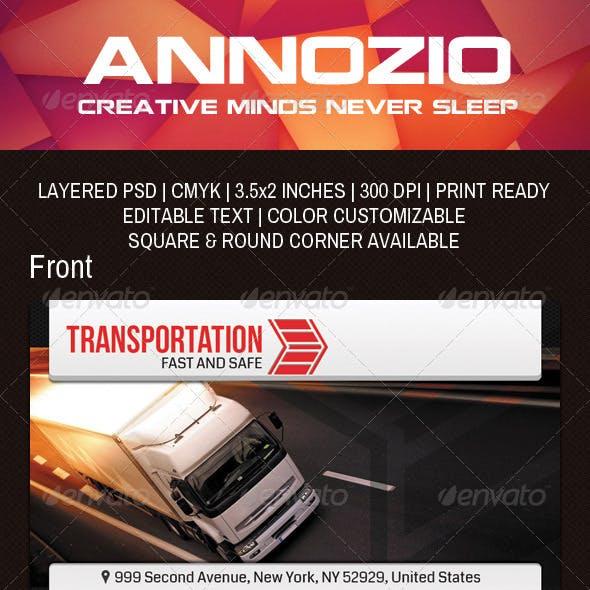 Transportation Company Business Card AN0041