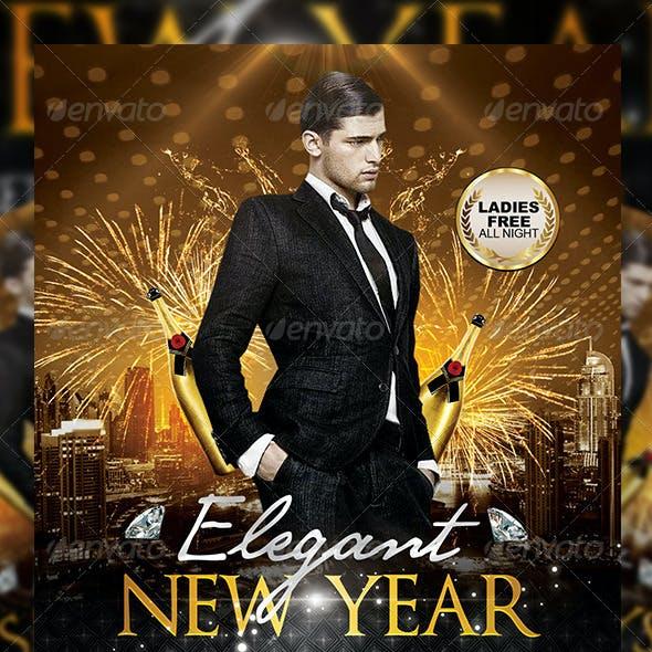 Elegant Birthday or New Year | Flyer + FB Cover