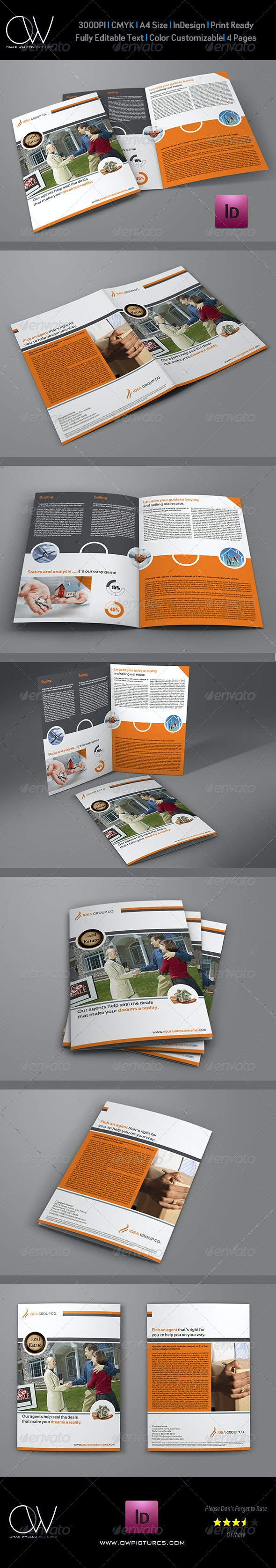 Real Estate Services Bi-Fold Brochure Template - Brochures Print Templates