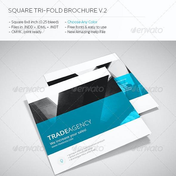 Trade Agency - Square Tri-fold Brochure