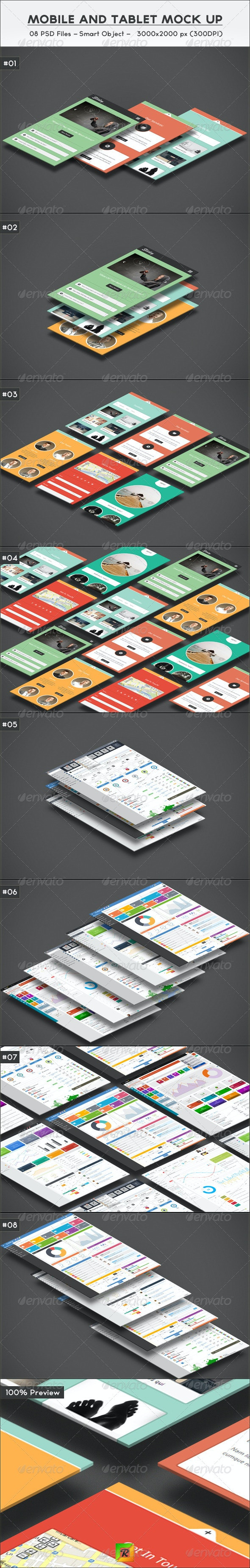 Mobile And Tablet Mock Up - Mobile Displays