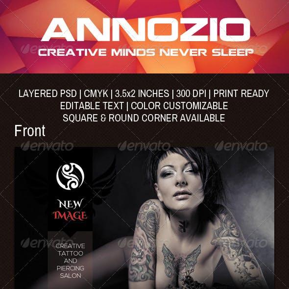 Tattoo Business Card AN0043