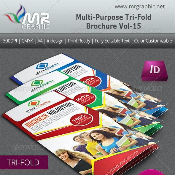Multipurpose Business Tri-Fold Brochure Vol-15