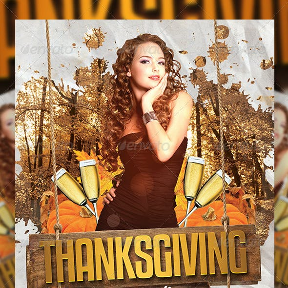 Thanksgiving or Autumn Party 3 | Flyer + FB Cover