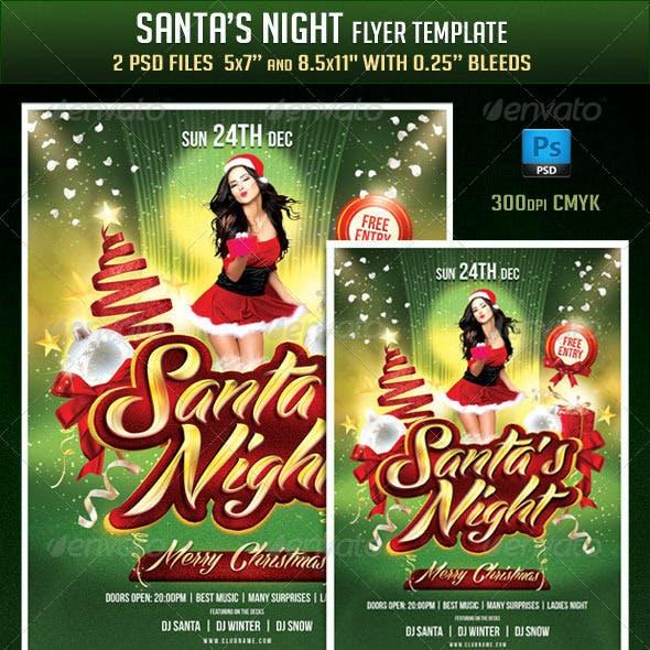 Santas Night Flyer Template