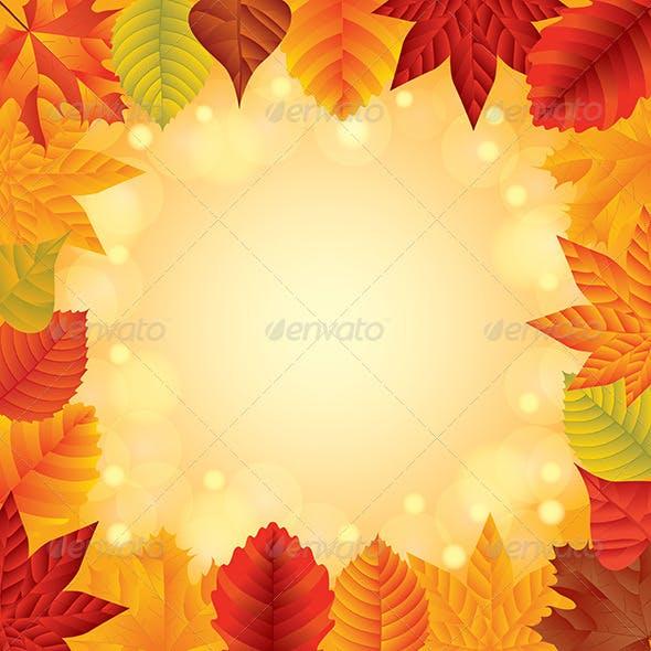 Autumn Leaves Vector Frame