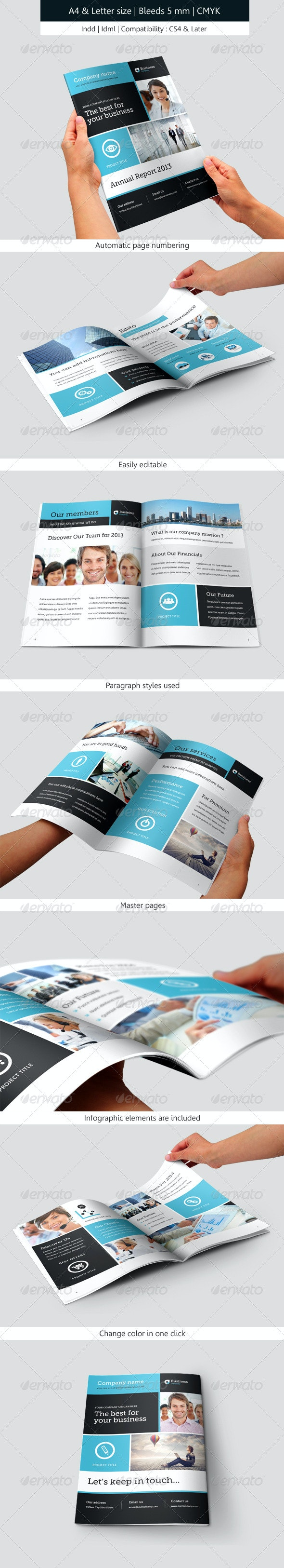 Corporate Brochure Template Annual Report - Informational Brochures