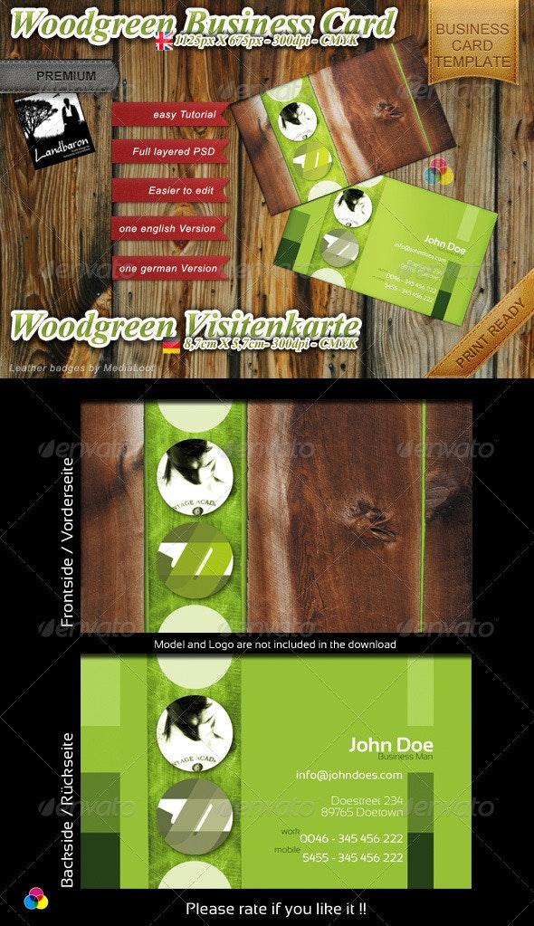 Woodgreen Business Card Template - Creative Business Cards