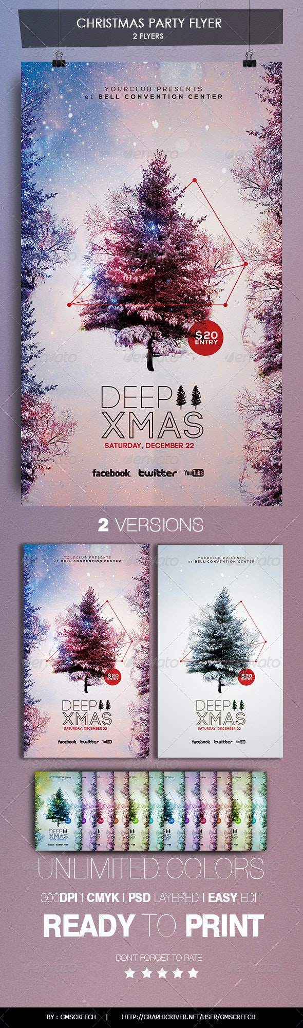 DEEP CHRISTMAS FLYER - Holidays Events
