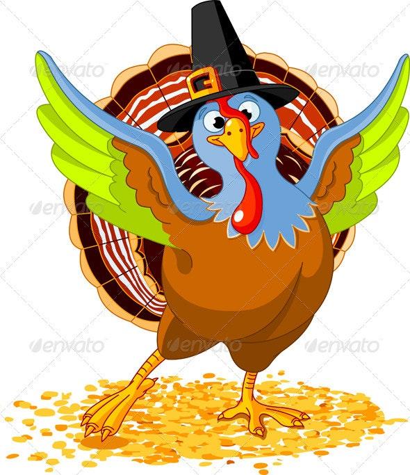 Happy Thanksgiving Turkey - Seasons/Holidays Conceptual