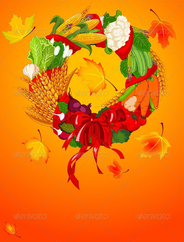 Autumn Welcome  harvest - Backgrounds Decorative