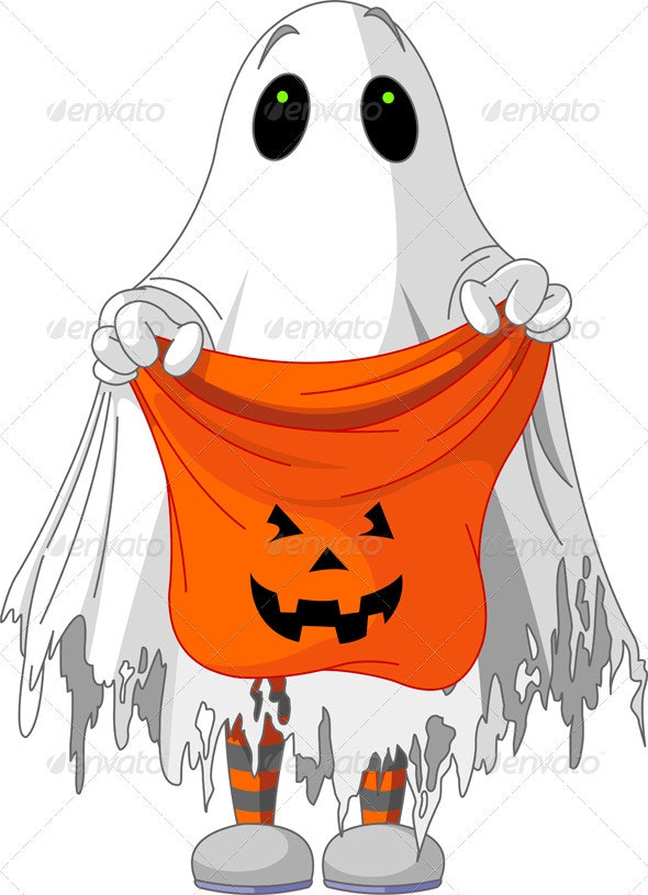 Ghost trick or treating  - Halloween Seasons/Holidays
