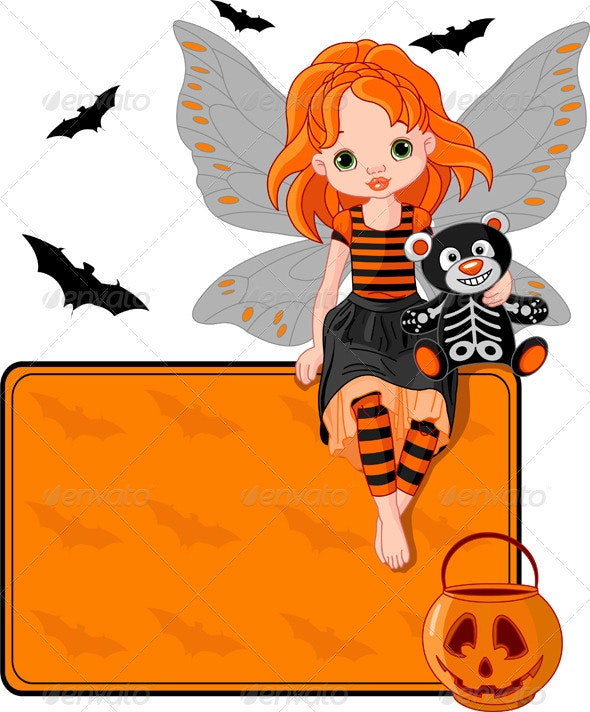 Little Halloween Fairy place card - Halloween Seasons/Holidays