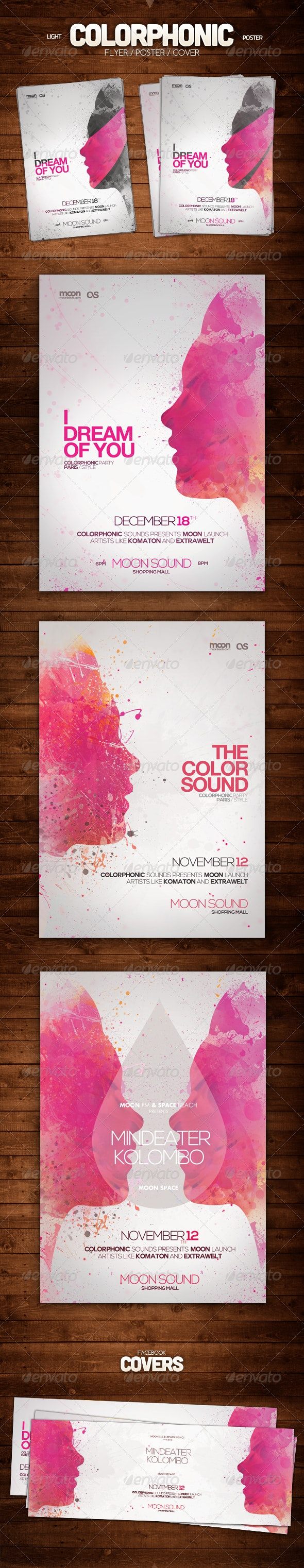 Light Colorphonic Poster - Clubs & Parties Events