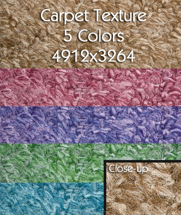 Carpet Texture | 5 Colors - Fabric Textures