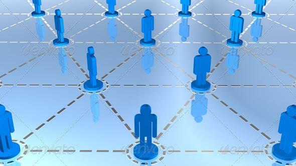 Global Social Network - 3D Backgrounds