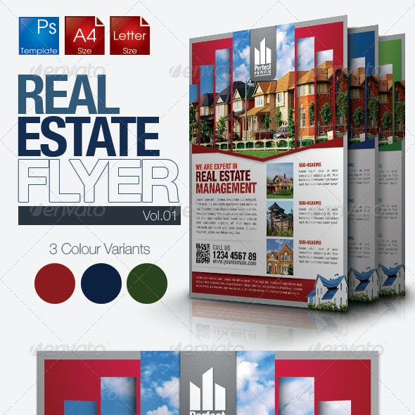 Simple Real Estate Flyer Vol.01