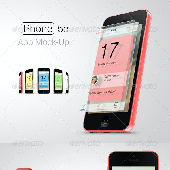 Phone 5c App Mock-Up