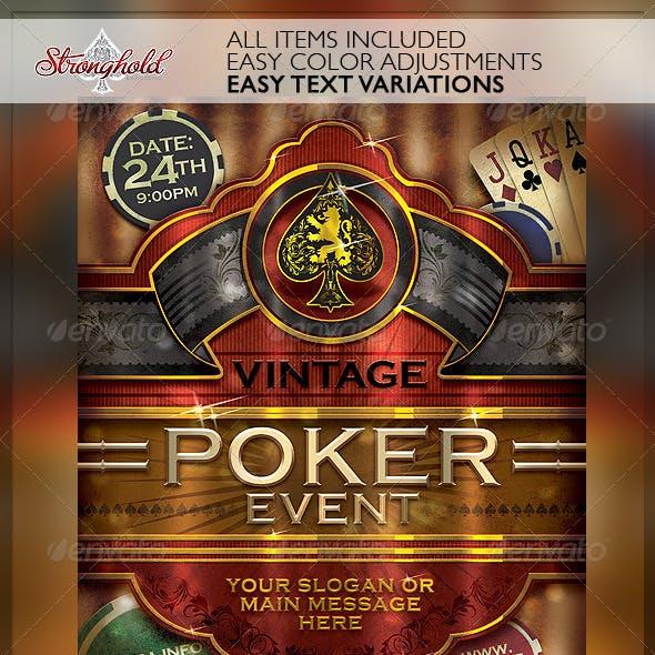 Vintage Poker Cigar Flyer Template