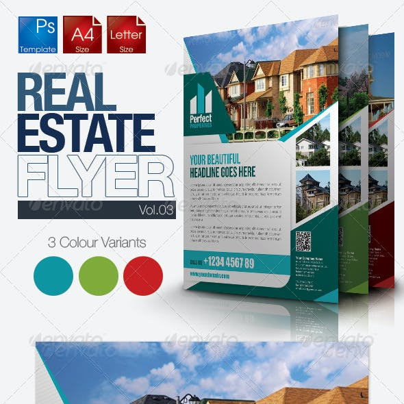 Simple Real Estate Flyer Vol.03