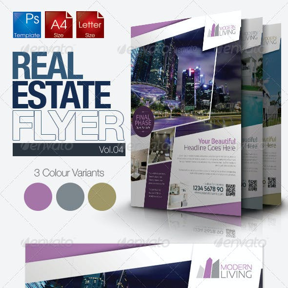 Simple Real Estate Flyer Vol.04
