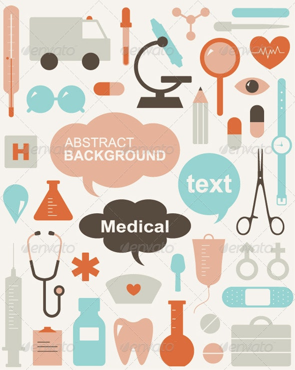 Medical Themed Icons And Warning-signs - Health/Medicine Conceptual