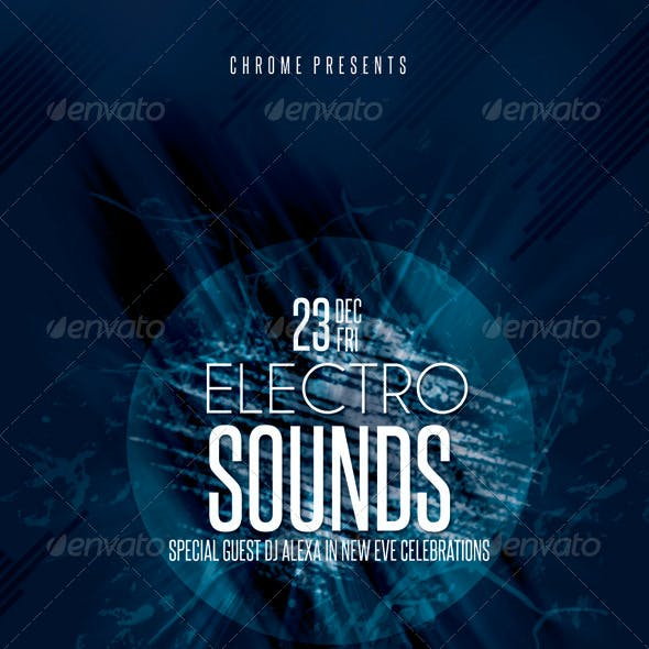 Electro Sounds Futuristic Flyer 3
