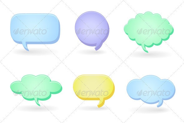 Dialog Clouds - Abstract Conceptual