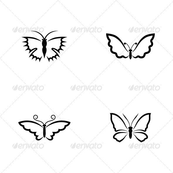 Butterflies - Animals Characters