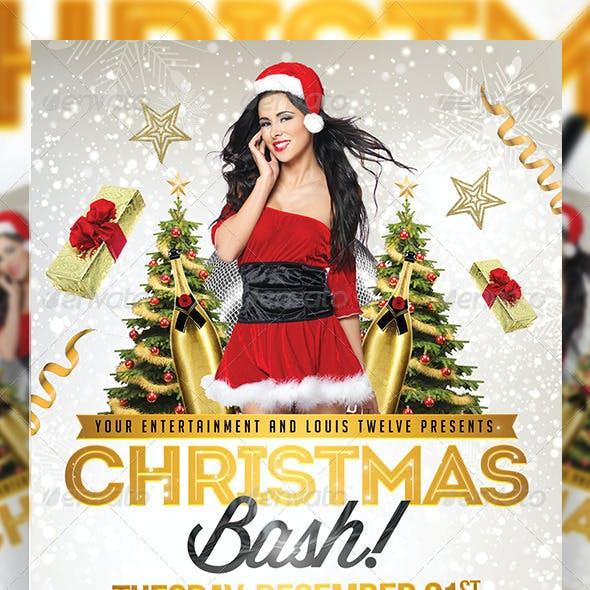 Christmas Bash v3   Flyer + FB Cover