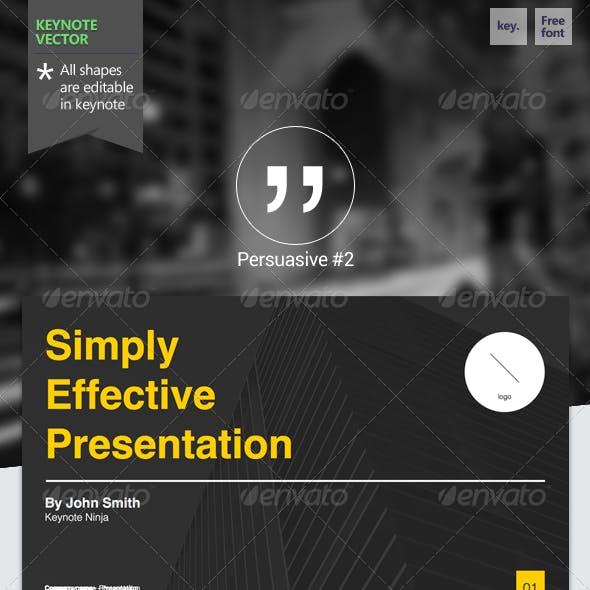 Persuasive #2 - Keynote Template