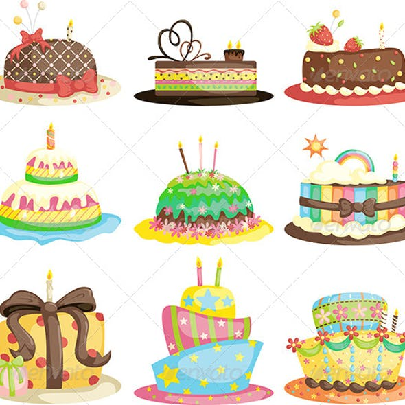 Birthday Cakes Graphics Designs Templates From GraphicRiver
