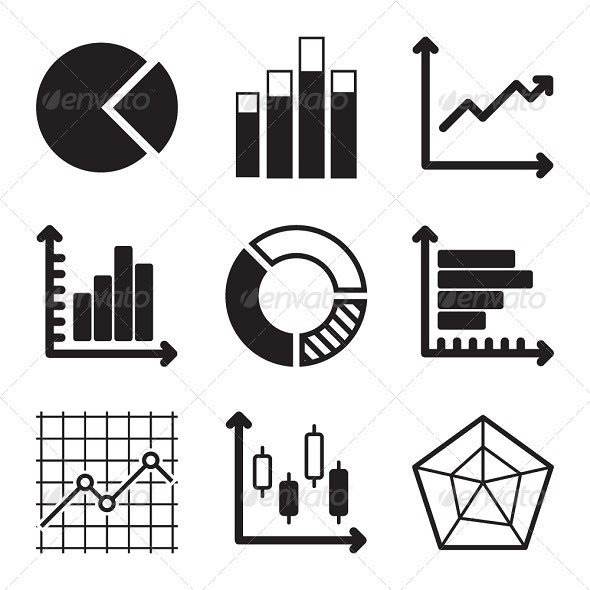 Diagram Icons Set - Business Icons