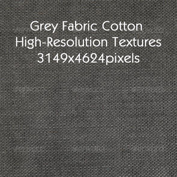 Grey Cotton Fabric Texture