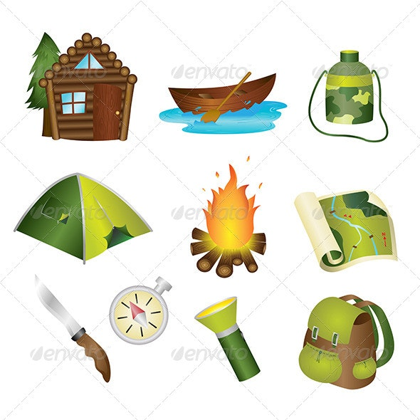 Camping Icons - Objects Vectors