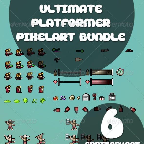 Platformer Pixelart Sprite Bundle