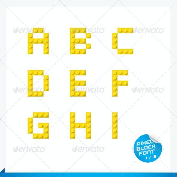 Pixel Block Font