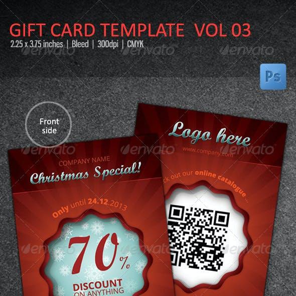 Christmas Gift Card / Voucher vol 03