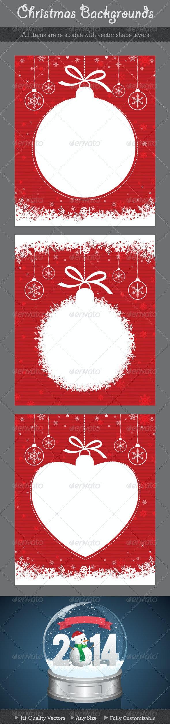 Red Christmas Backgrounds - Christmas Seasons/Holidays
