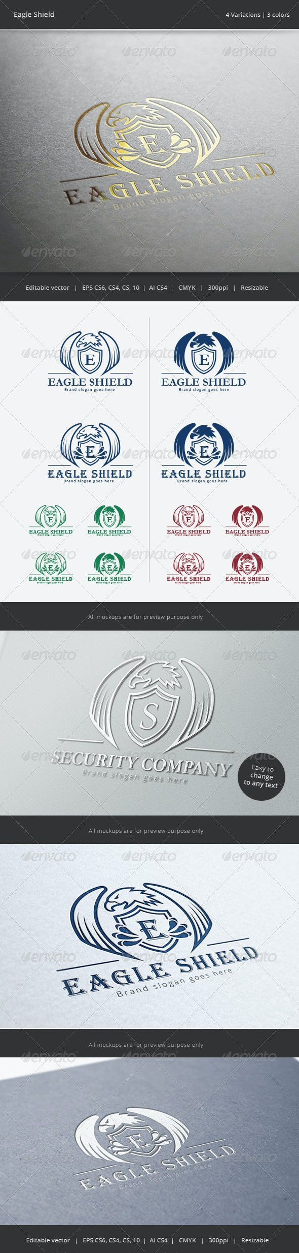 Eagle Shield Crest Logo - Crests Logo Templates