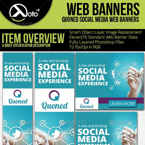 Social Media Web Banners