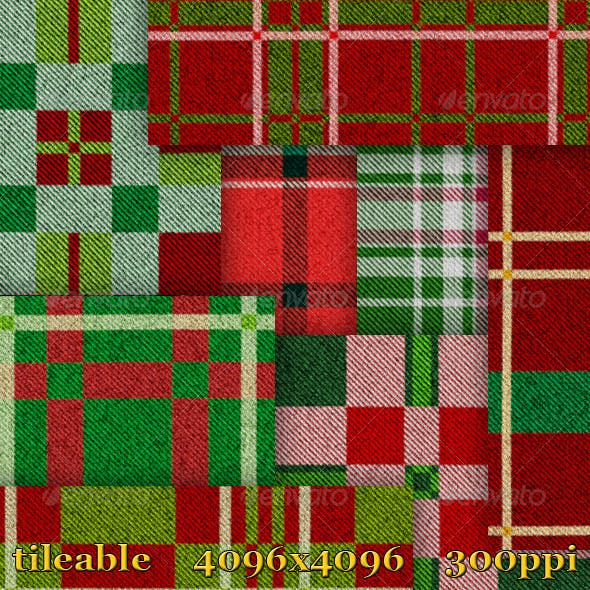 8 Christmas Plaid Textures
