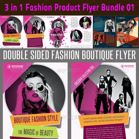3 in 1 Fashion Product Flyer Bundle 01
