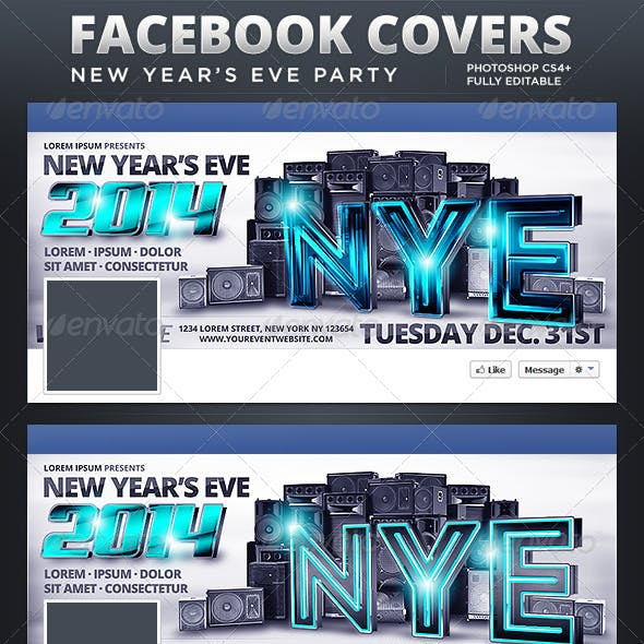 NYE Party Facebook Covers